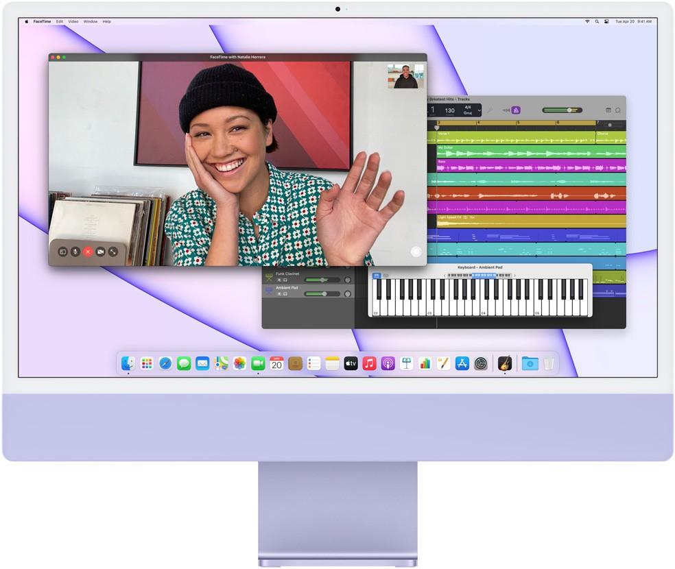 Laptop Apple iMac 2021 M1 24'' 8 Core GPU - 256GB - Chính ...