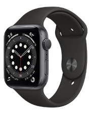 ĐH Apple Watch Series 6 GPS, 44mm Space Gray Aluminium Case with Black Sport Band - TBH - 55 Trần Quang Khải - Quận 1