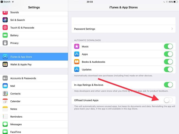 Hệ điều hành iOS 11 có thể tự động xóa và giải phóng bộ nhớ trên