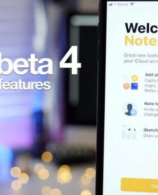 thay đổi trên bản cập nhật ios 11 beta 4
