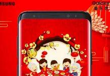 """Galaxy S9+ bất ngờ xuất hiện trong banner """"Chúc mừng năm mới"""""""