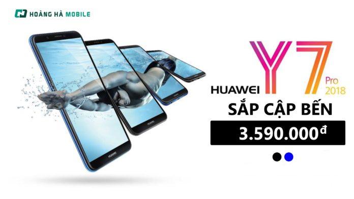 Huawei Y7 Pro 2018: Siêu phẩm màn hình tràn viền, camera kép, giá 3.99 triệu đồng chuẩn bị cập bến