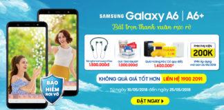 Đặt trước Galaxy A6/A6+ để có cơ hội nhận bộ quà 4 triệu cùng trả góp 0%