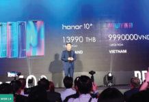 Honor 10 ra mắt Đông Nam Á: Chip Kirin 970, camera AI kép, giá 9.990.000đ