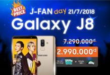 Cơ hội mua Galaxy J8 giá chỉ 2.990.000 đồng trong ngày hội J-Fan Day