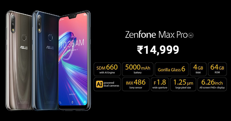 Giá bán Zenfone Max Pro M2