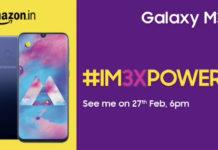 Galaxy M30 được xác nhận với 3 camera, màn hình Infinity U, ra mắt...