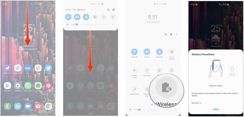 Chia sẻ pin trên Galaxy S10 2