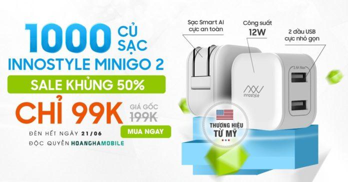 Sạc Innostyle minigo 2 USB A