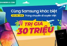 Khuyến mãi Samsung tháng 8