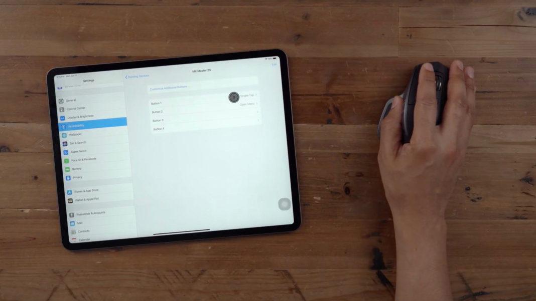 Cách dùng chuột cho iPad