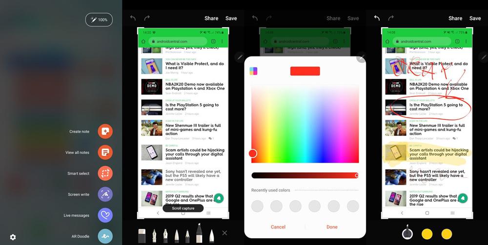 Cách chụp ảnh màn hình Galaxy Note 10
