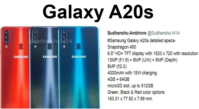 ro-ri-galaxy-a20s-4 Rò rỉ Galaxy A20s nâng cấp bộ 3 camera phía sau, chip Snapdragon 450