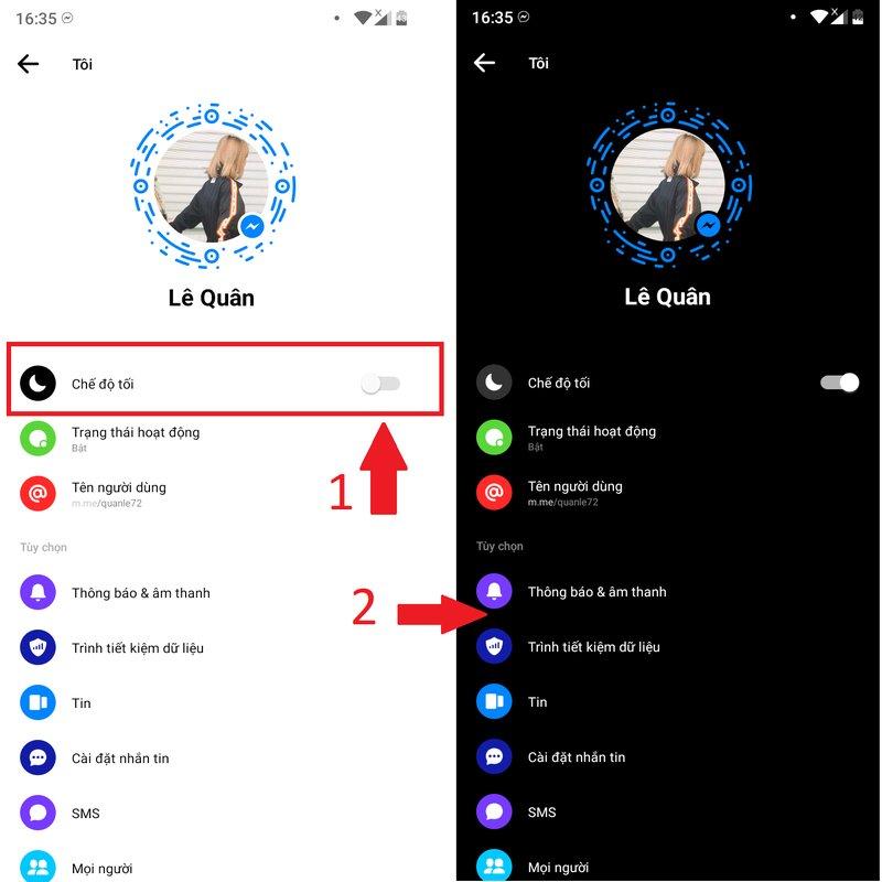 tiết kiệm pin khi dùng Messenger