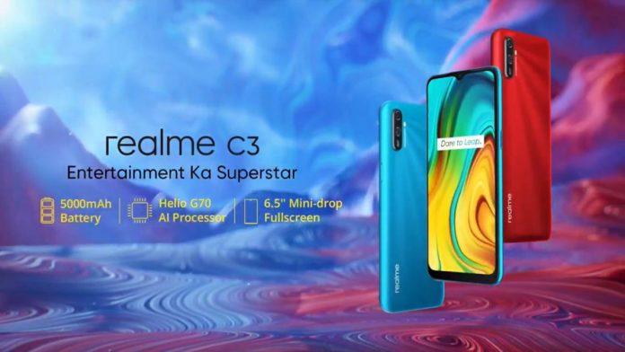 Realme C3 ra mắt