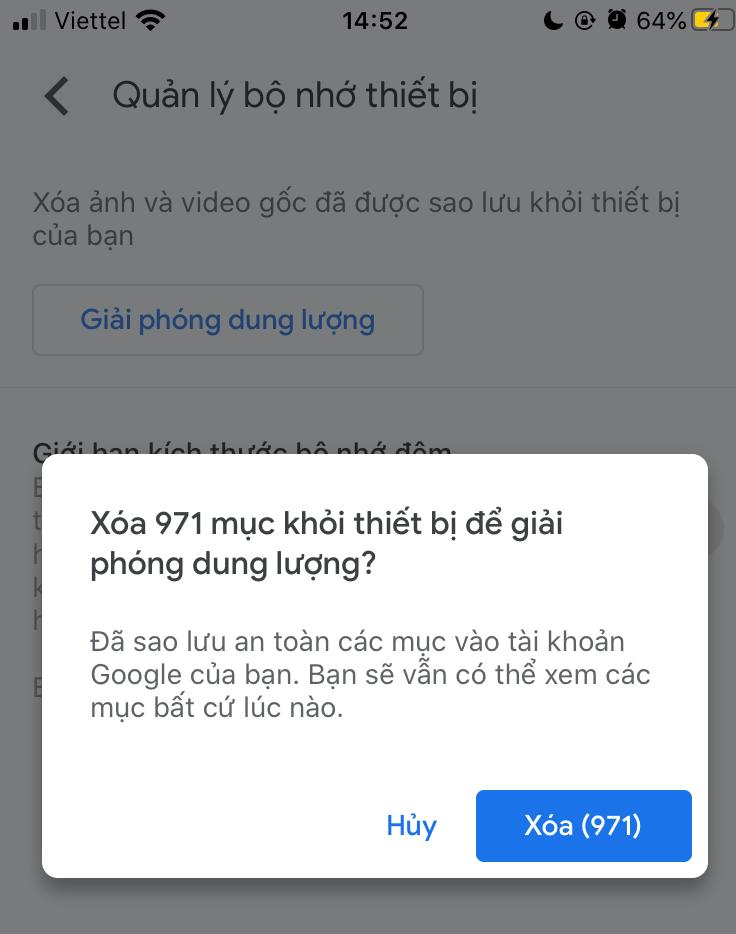 tối ưu hoá bộ nhớ iphone n