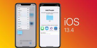 ios 13.4 chính thức phát hành