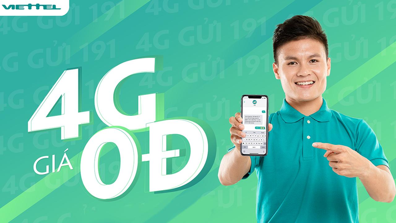 Cơ hội nhận miễn phí Data 4G của Viettel chỉ bằng một tin nhắn đơn giản