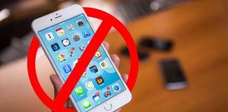 cấm sử dụng iphone