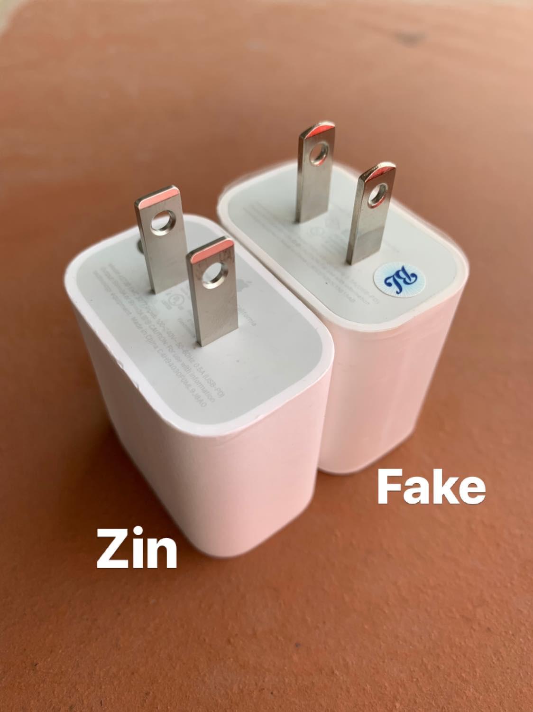 Cách phân biệt sạc nhanh chính hãng Apple và sạc nhanh fake 3