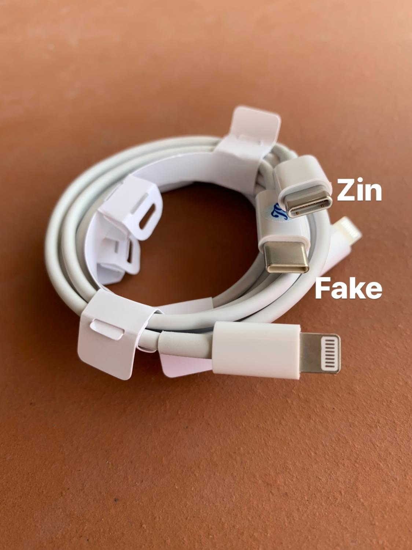 Cách phân biệt sạc nhanh chính hãng Apple và sạc nhanh fake 6