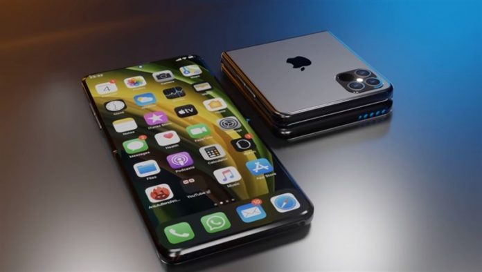 thiết kế điện thoại iPhone gập