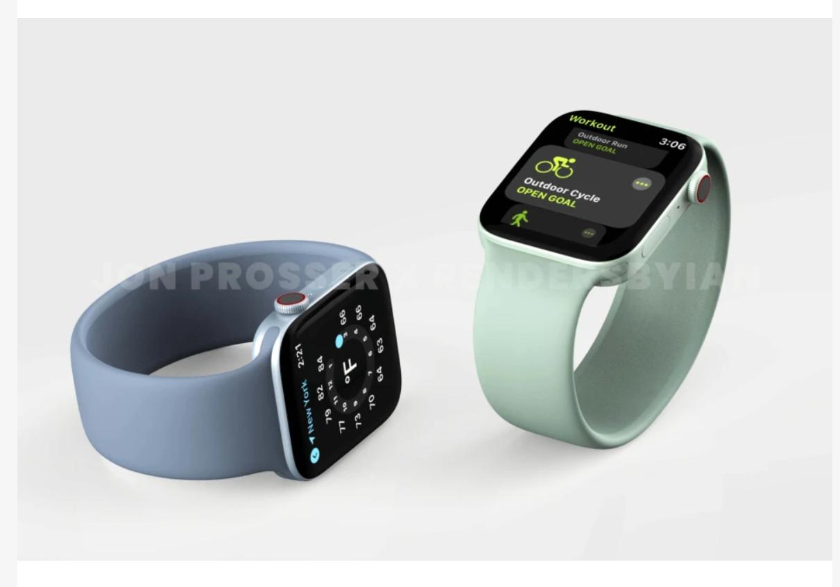 Rò rỉ hình ảnh render mới nhất của Apple Watch Series 7 với kiểu thiết kế độc đáo