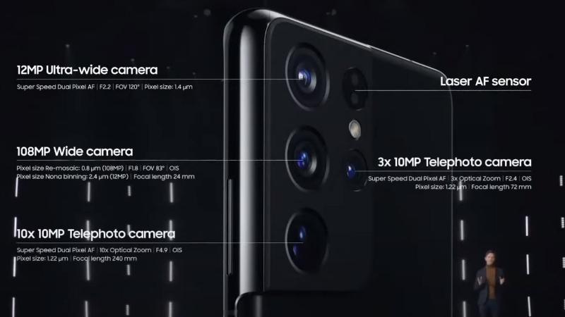 """Galaxy S21 Ultra với camera sau """"khủng long"""""""