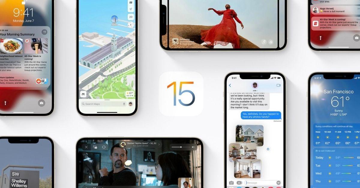 nâng cấp iOS 15